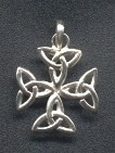 Celtic cross with triquetra
