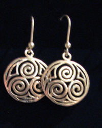 Triskel earrings