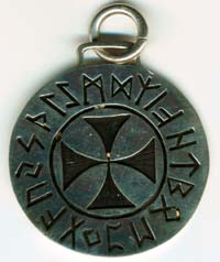 Viking Cross with Futark