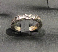Pagan wedding ring - moon
