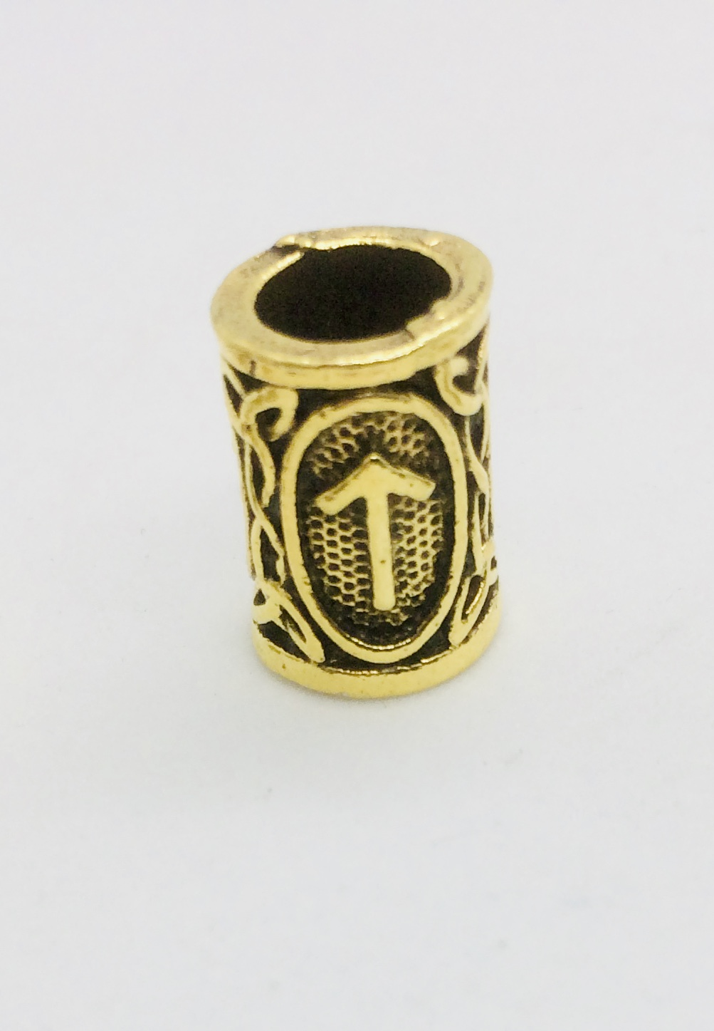 Bronze Teiwaz Rune Beard Ring